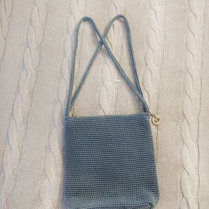 The sak light blue crochet shoulder bag